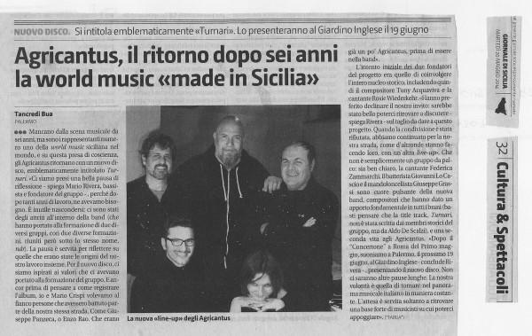 Agricantus - Giornale di Sicilia 20 maggio 2014