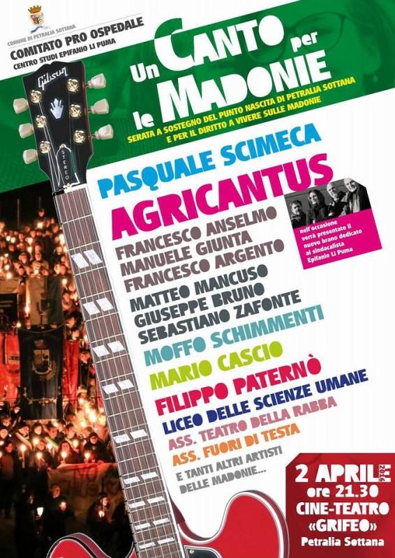 Agricantus - Locandina Un Canto per le Madonie